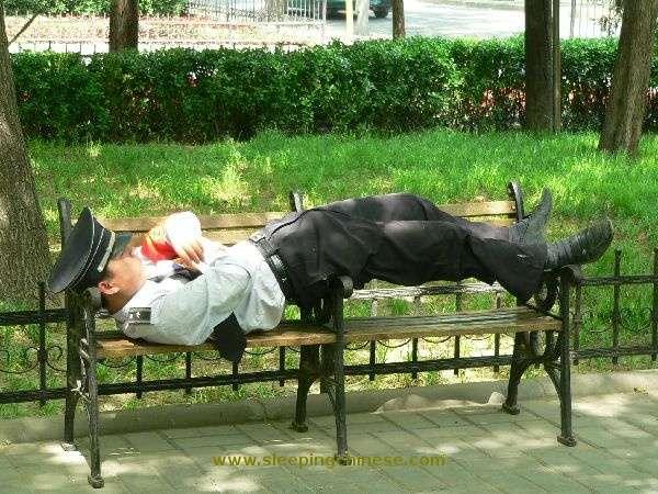Photo Snaps of Extreme Naps