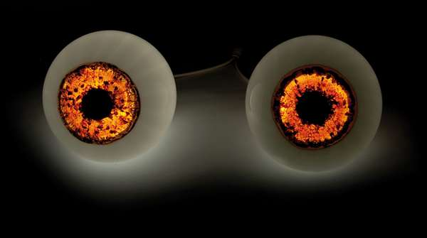 Illuminated Iris Lamps