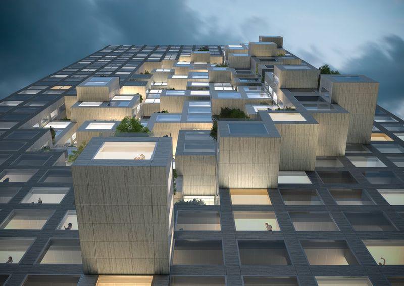 Pixelated Albanian Buildings