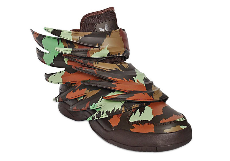 Winged Camo-Printed Shoes