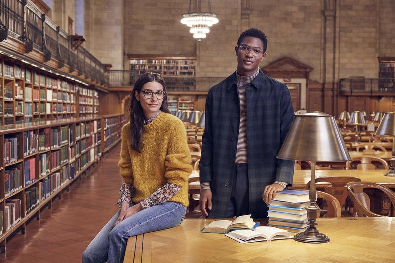 Library-Inspired Eyewear Editorials