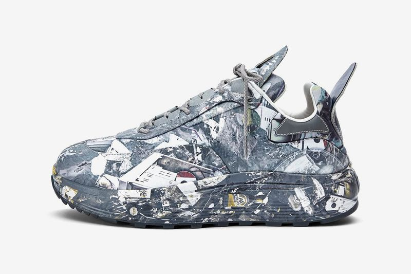 Urban Camouflage-Covered Sneakers