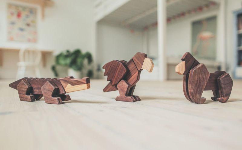Modular Wooden Animals