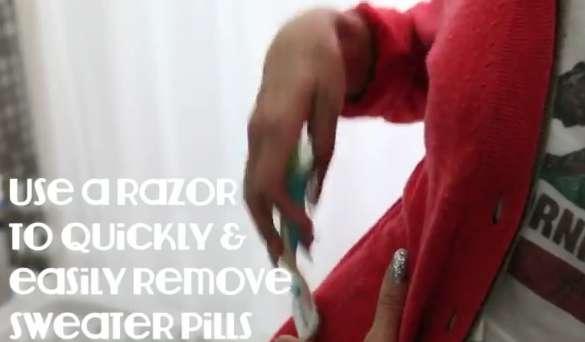DIY Clothing Ball Removals