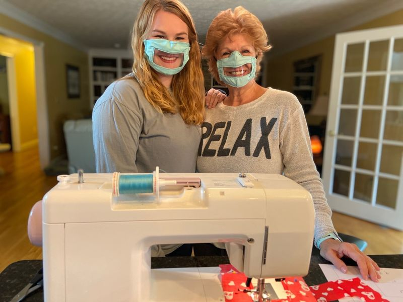 Hearing Impaired Face Mask Designs