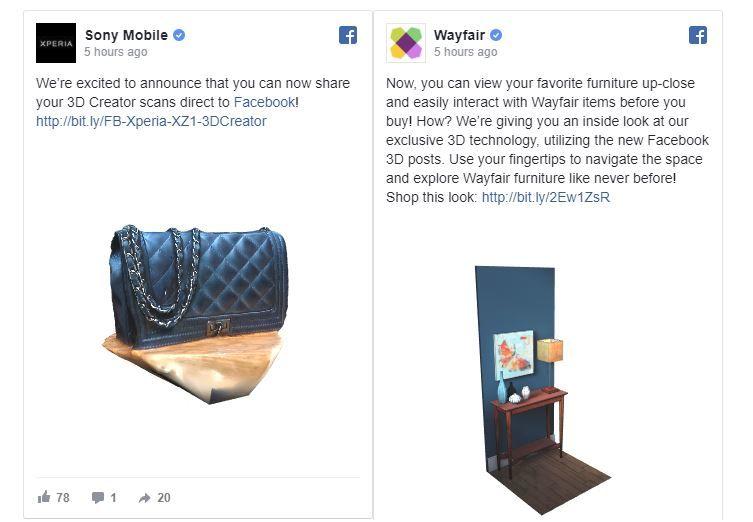 Interactive 3D Social Posts