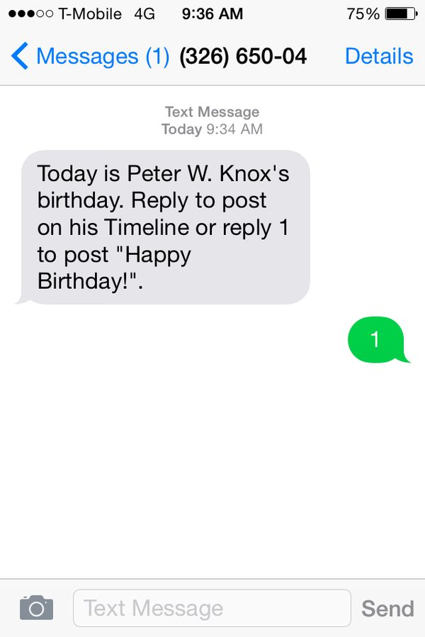 Automated Birthday Greetings facebook birthday – Birthday Text Greetings
