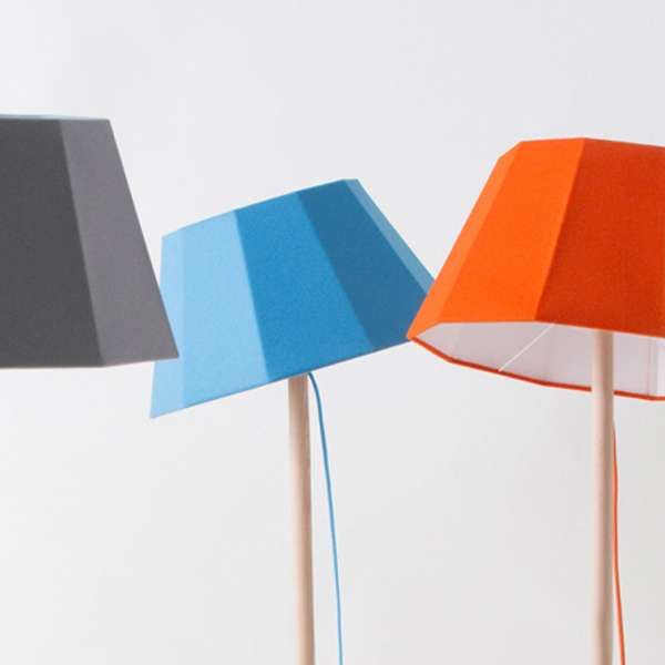 Colored Lamp Shades candy-colored illuminators : faces lamp shades