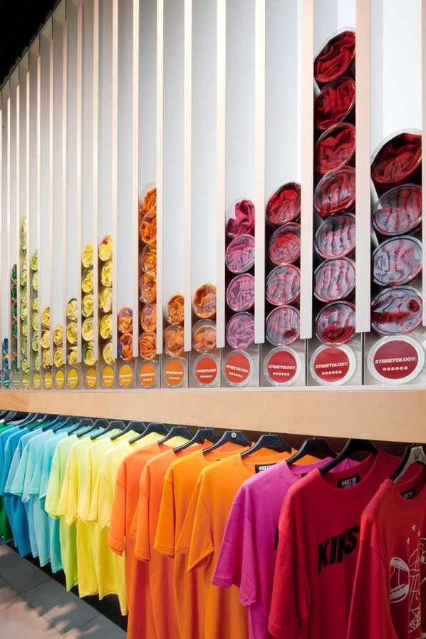 Tubed Streetwear Displays