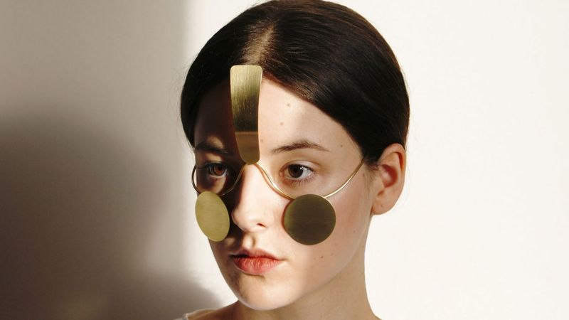 Obscuring Facial Jewelry - Ewa Nowak's Jewelry Shields the Wearer from Facial Recognition Tech (TrendHunter.com)