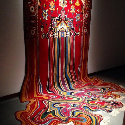 Melting Rug Sculptures
