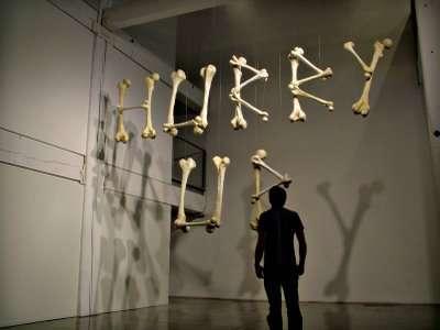 Bones as 3D Typography