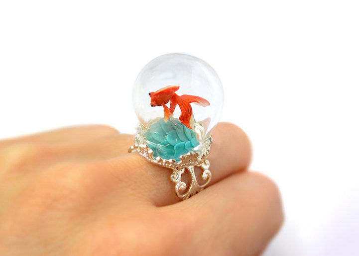 Whimsical Terrarium Rings
