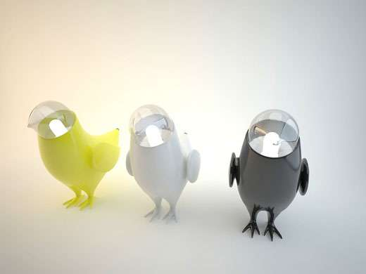 Adventurous Avian Lamps