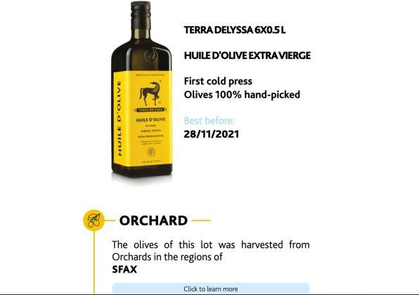Blockchain Olive Oil Bottles