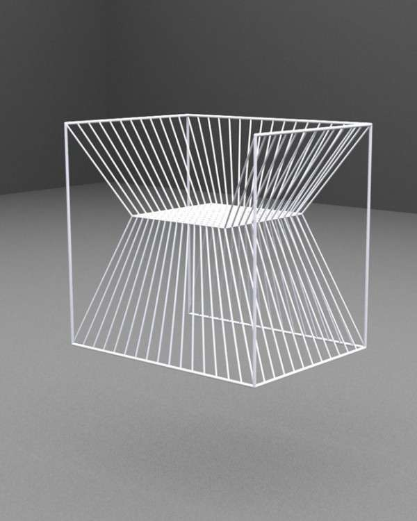 Mirrored Wireframe Seating
