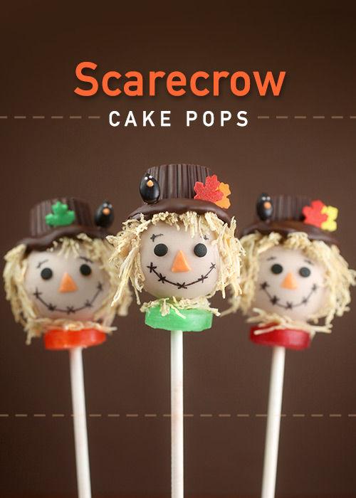 Sweet Scarecrow Cake Pops