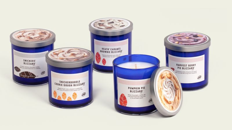 Frozen Dessert-Themed Candles