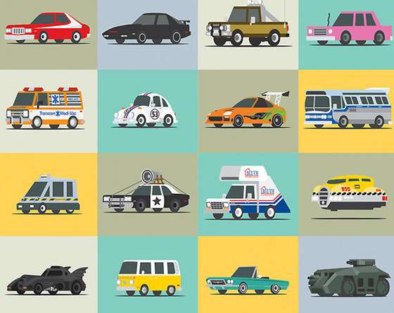 Pop Culture Vehicle Posters