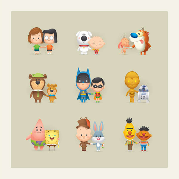 Popular TV Pairing Illustrations