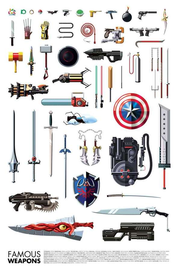 Gamer Weaponry Infographics