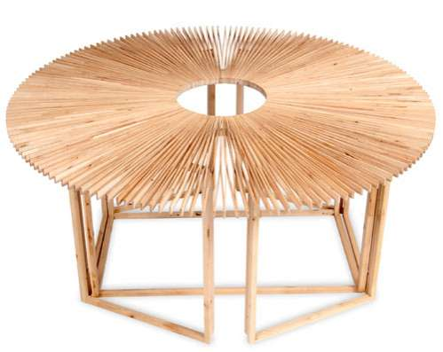 Unfolding Circular Furniture