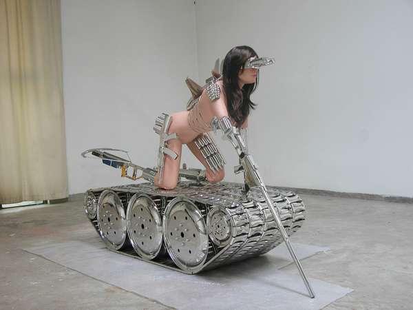 Titillating Tank Sculptures