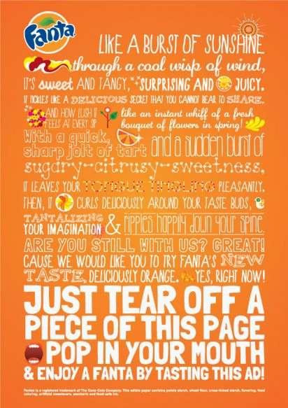 Tastable Print Ads
