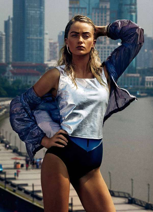 Futuristically Sporty Photoshoots