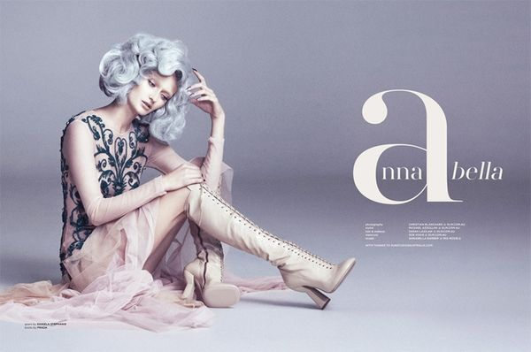 Prim Silver-Haired Editorials