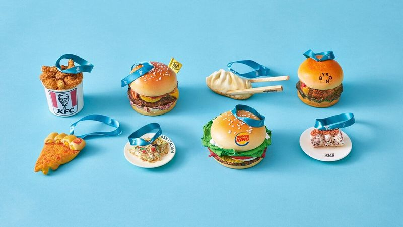 Hand-Painted Fast Food Baubles