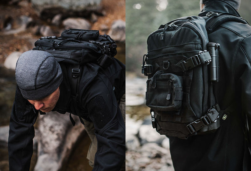 Compact Modular Backpacks