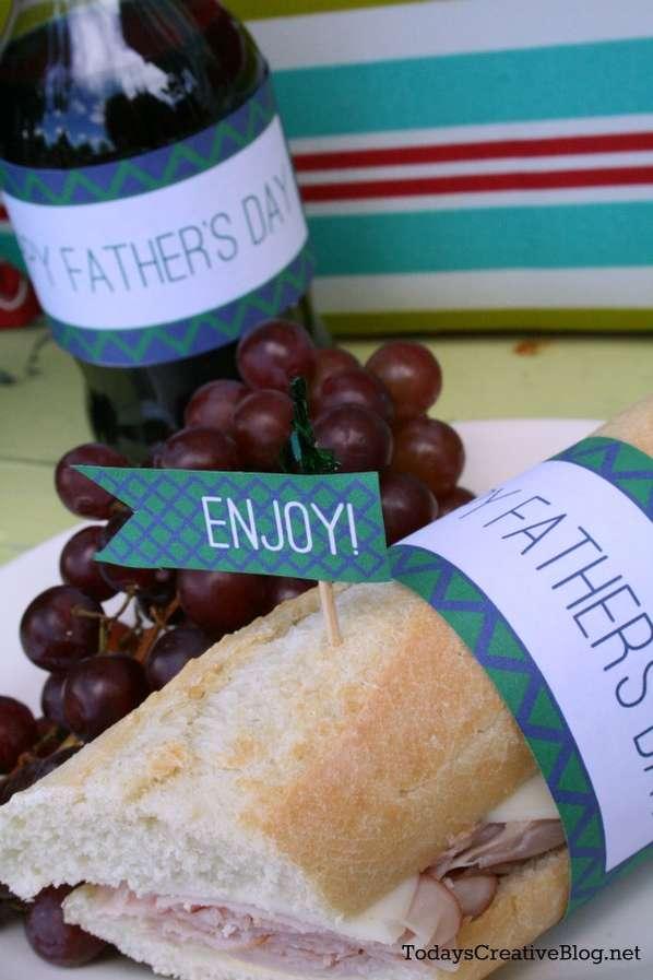 DIY Festive Lunch Labels
