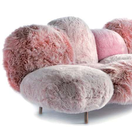 Faux Fur Sofas Fluffy Multi Pillowed Cloud Couches By Campana For Edra