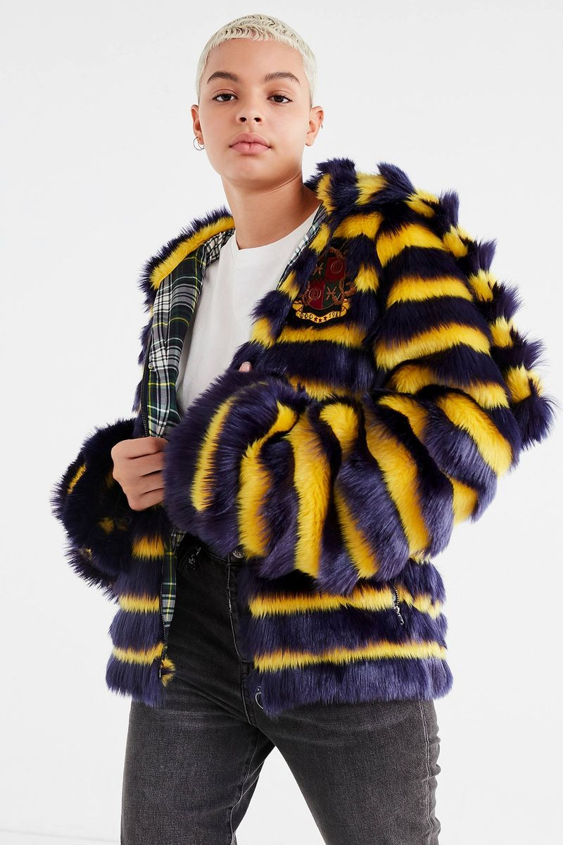 Vibrant Faux Fur Jackets