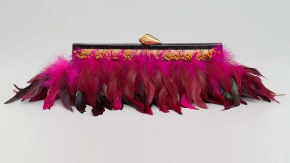 Exotic Feather Clutches
