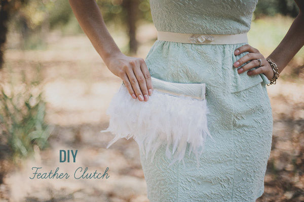 Frilly Feather Purses