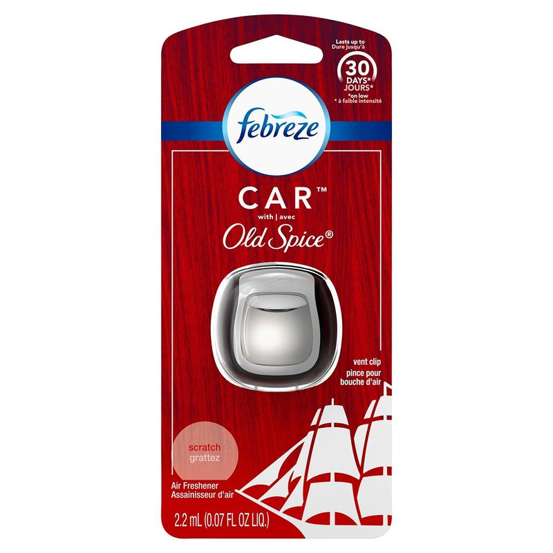 Masculinely Scented Vehicle Fresheners : Febreze x Old