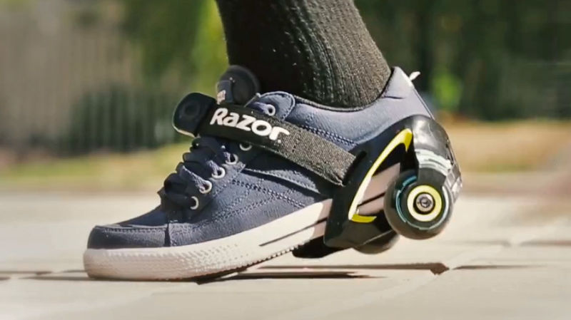 Strap-On Sneaker Wheels