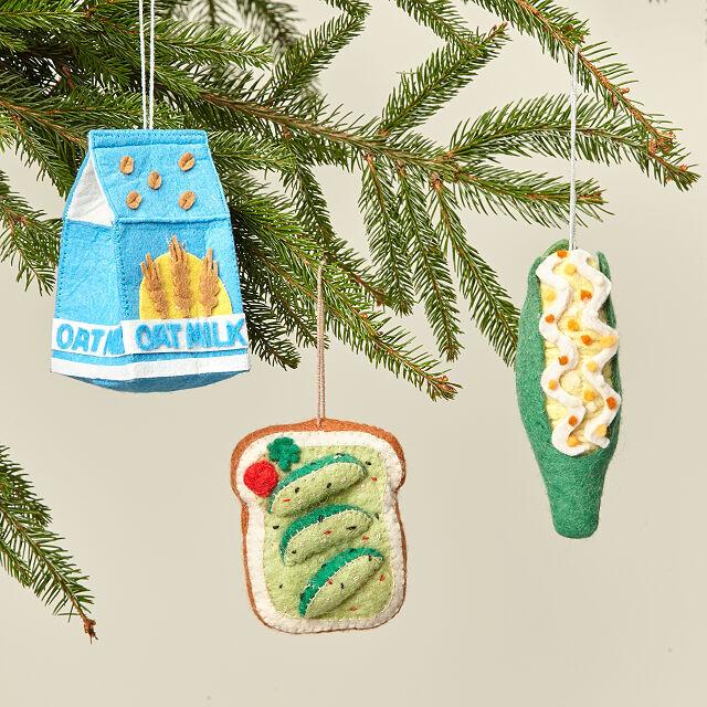 Felt Foodie Ornaments