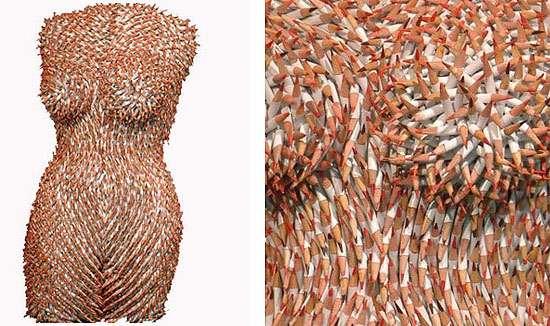 Womanly Pencil Sculptures
