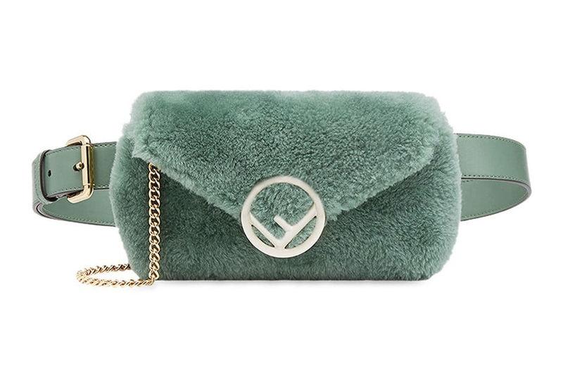 Fuzzy Green Waist Packs
