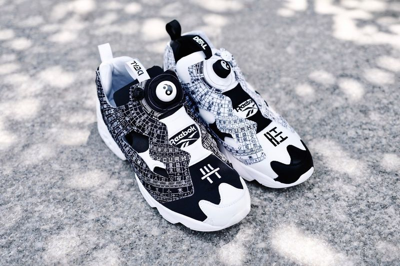 Chinese Symbol-Themed Chunky Sneakers