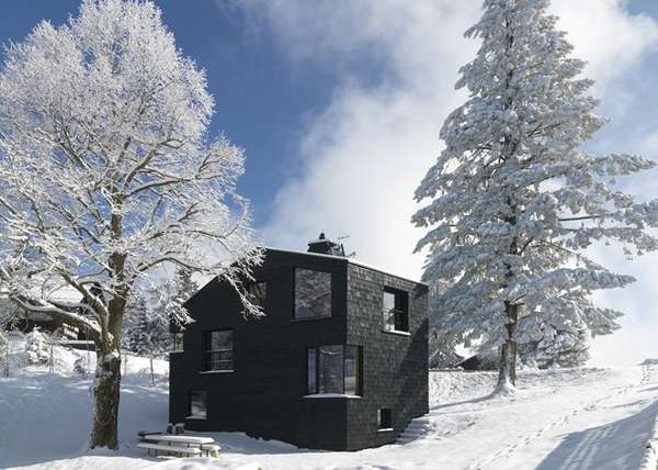 All-Black Mountain Cabins