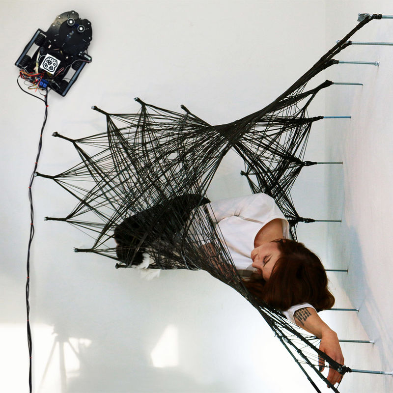 Swarm-Constructed Fiber Structures