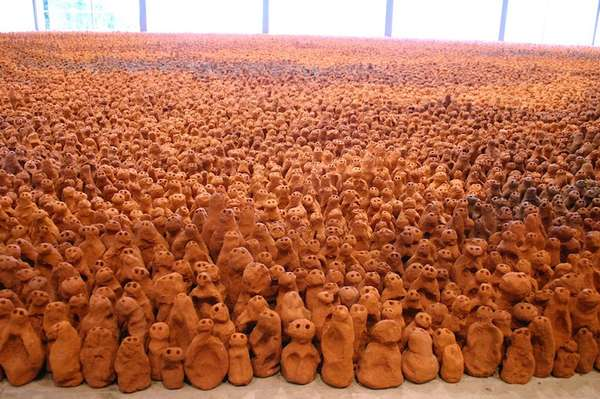 Countless Clay Figurine Installations
