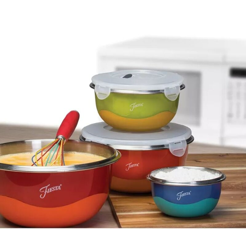 Functional Stainless-Steel Mixing Bowls