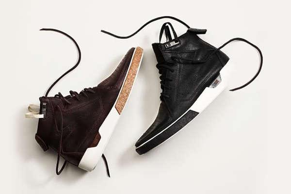 Cork Board Hi-top Sneakers