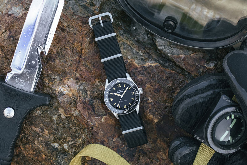 Special Edition Watch Collaborations - HODINKEE Created a Version of the Fifty Fathoms Bathyscaphe (TrendHunter.com)