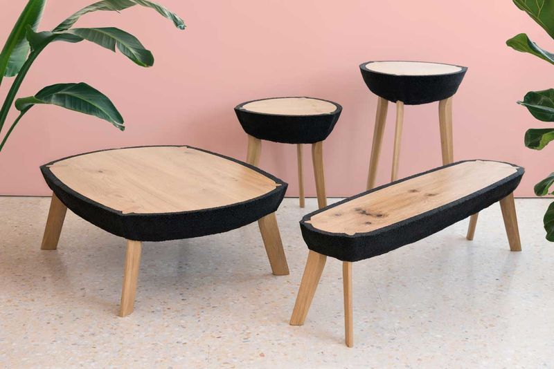 Recycled Rubber Crumb Tables